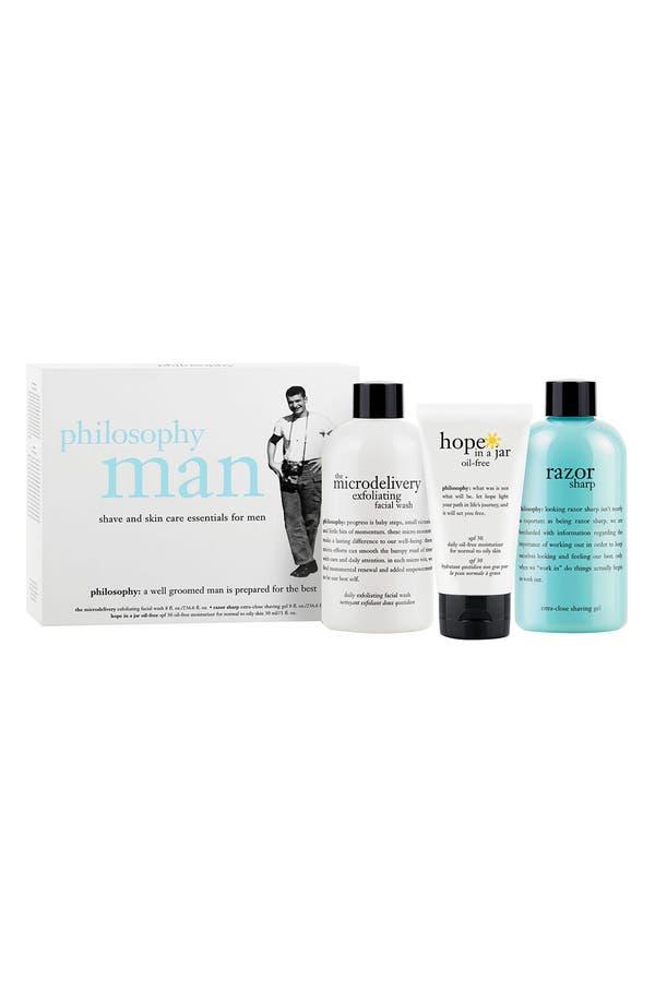 Main Image - philosophy 'man' shave & skin care essentials set ($71 Value)
