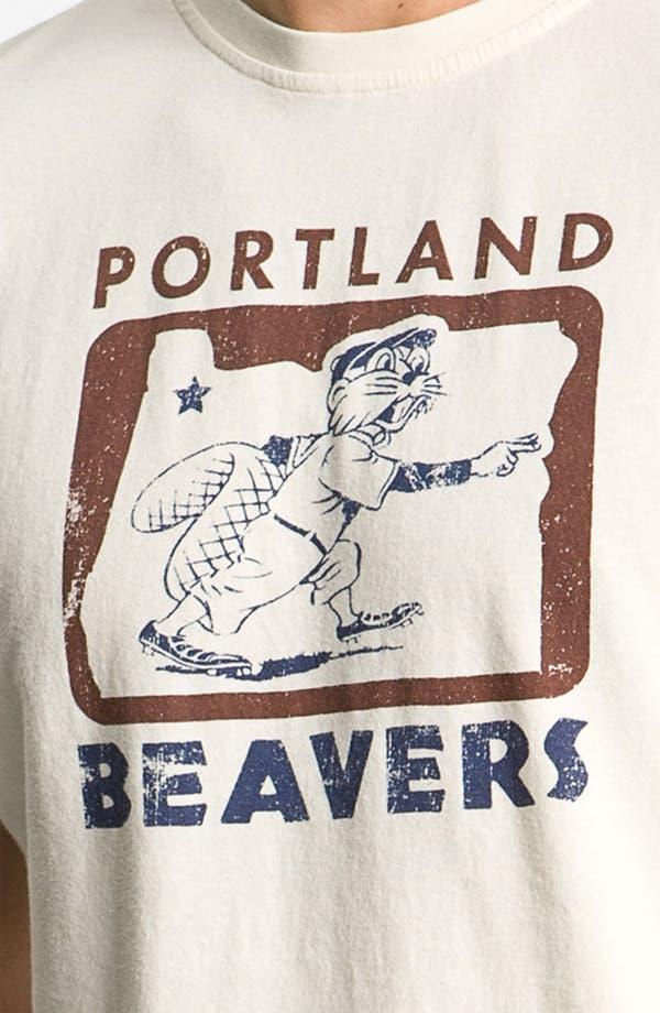 Alternate Image 3  - Red Jacket 'Portland Beavers' Regular Fit Crewneck T-Shirt (Men)