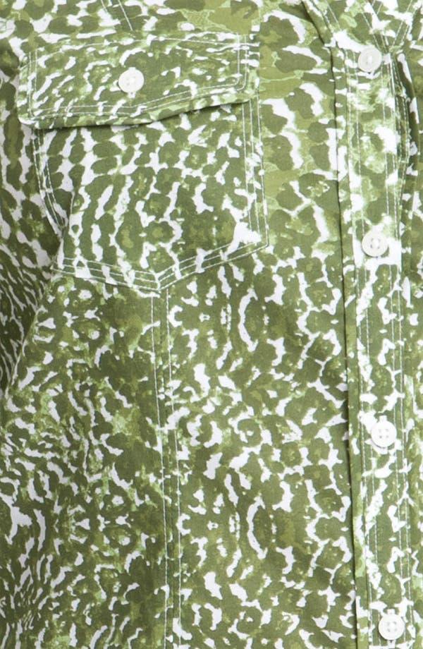Alternate Image 3  - Foxcroft Leopard Print Shaped Shirt (Plus)