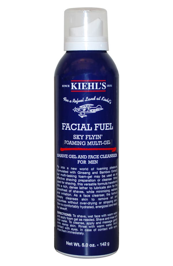 Main Image - Kiehl's Since 1851 'Facial Fuel - Sky Flyin' Foaming Shave Gel & Face Cleanser