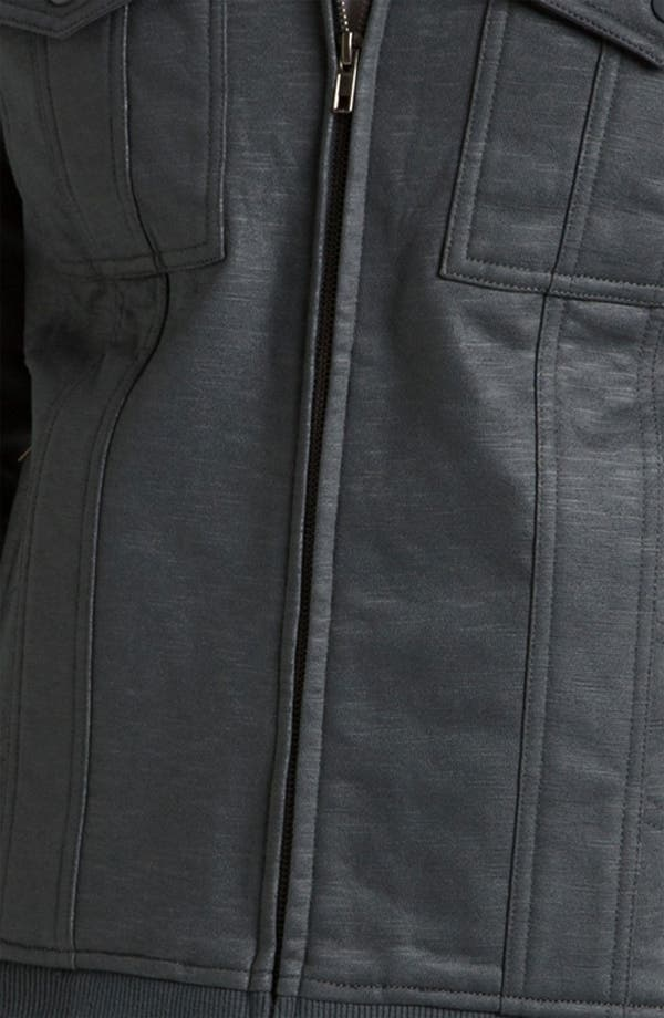 Alternate Image 3  - Kane & Unke Trim Fit Coated Moto Jacket