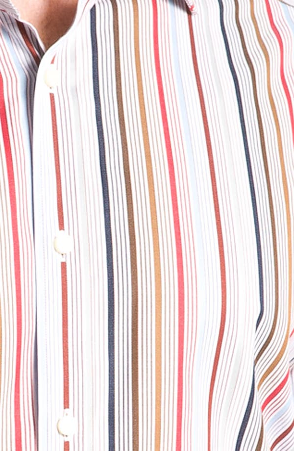 Alternate Image 3  - Thomas Dean Stripe Sport Shirt
