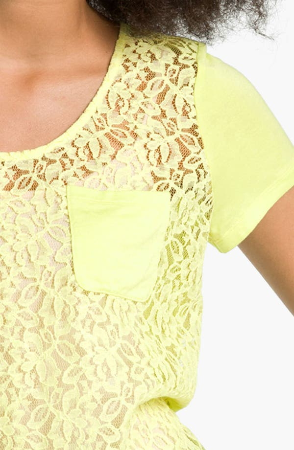 Alternate Image 3  - Hinge® Lace & Knit Tee