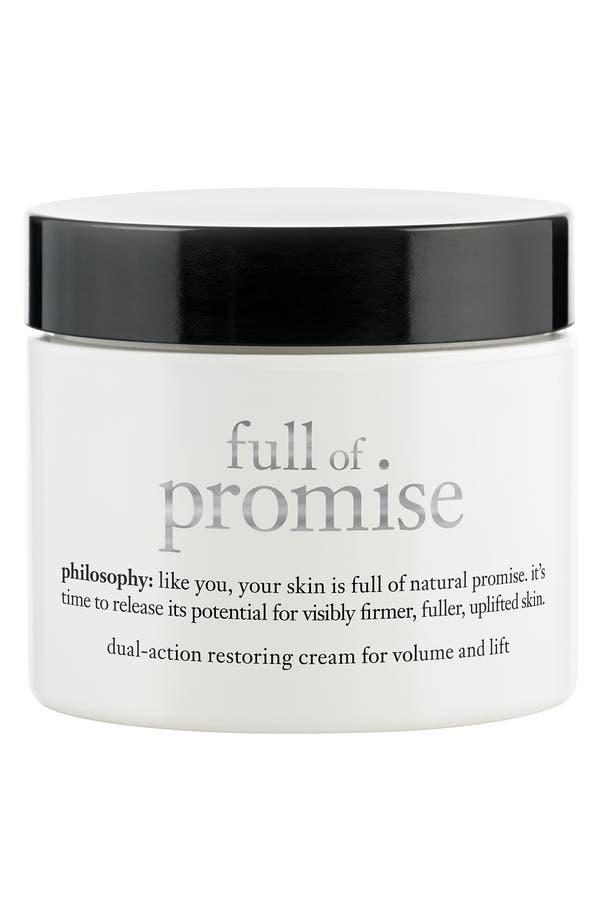 Alternate Image 1 Selected - philosophy 'full of promise' restoring cream