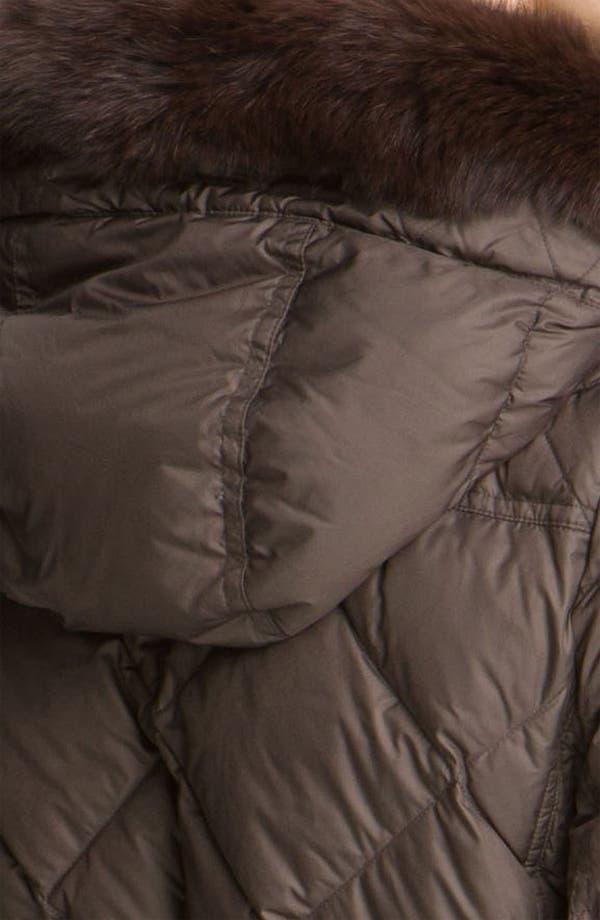 Alternate Image 3  - Burberry Brit Genuine Fox Fur Trim Down Coat