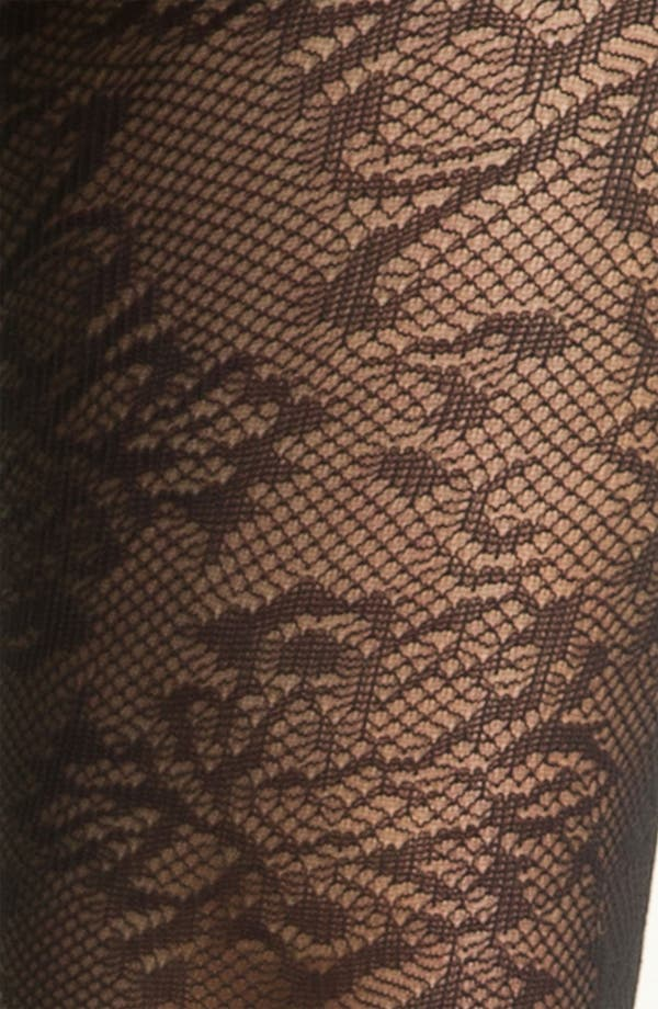 Alternate Image 2  - Nordstrom Net Floral Tights