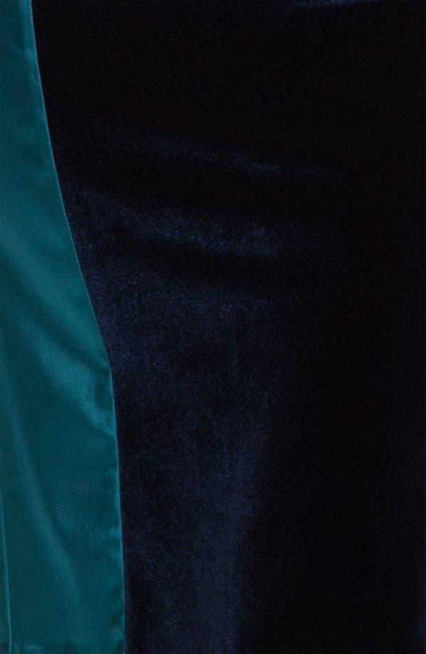 Alternate Image 3  - Black Halo 'Lorraine' Velvet & Satin Sheath Dress