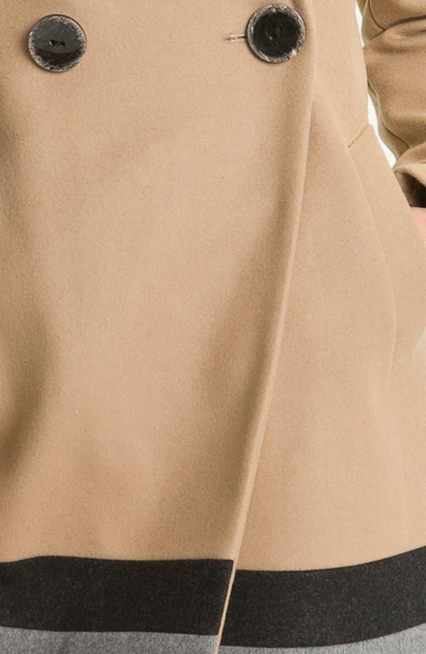 Alternate Image 3  - Vince Camuto Colorblocked Wool Blend Coat