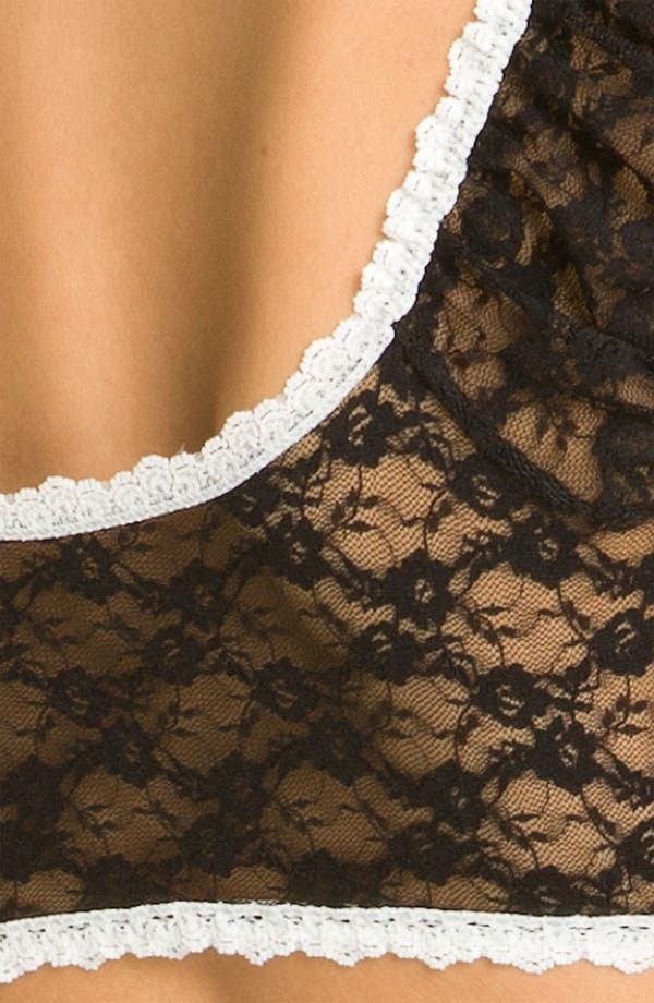 Alternate Image 3  - Hanky Panky 'After Midnight' Peekaboo Lace Maid Top