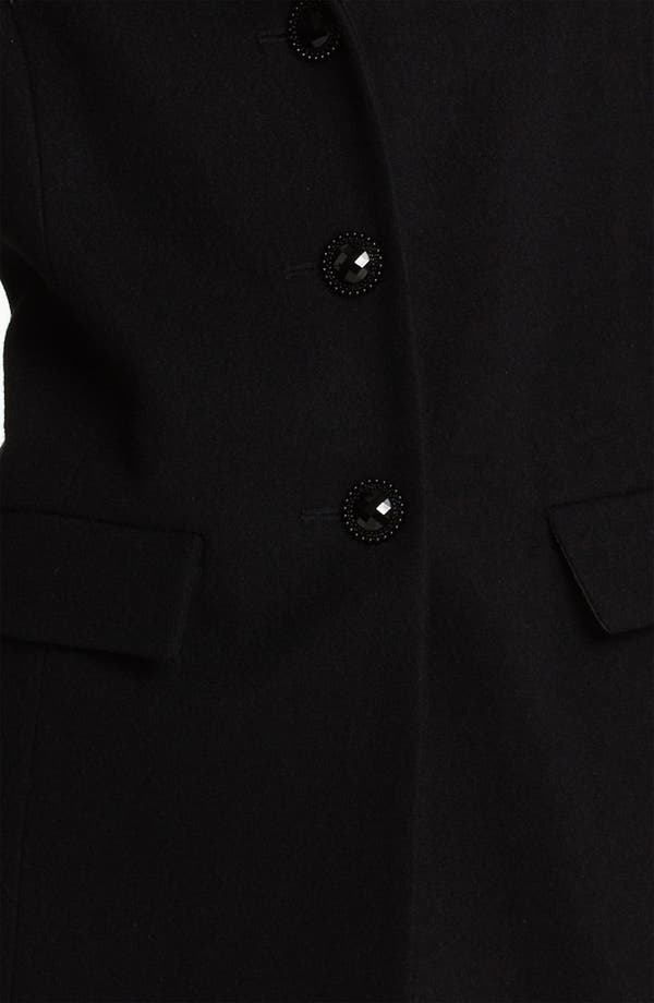 Alternate Image 3  - Betsey Johnson Ruffle Hem Walking Coat