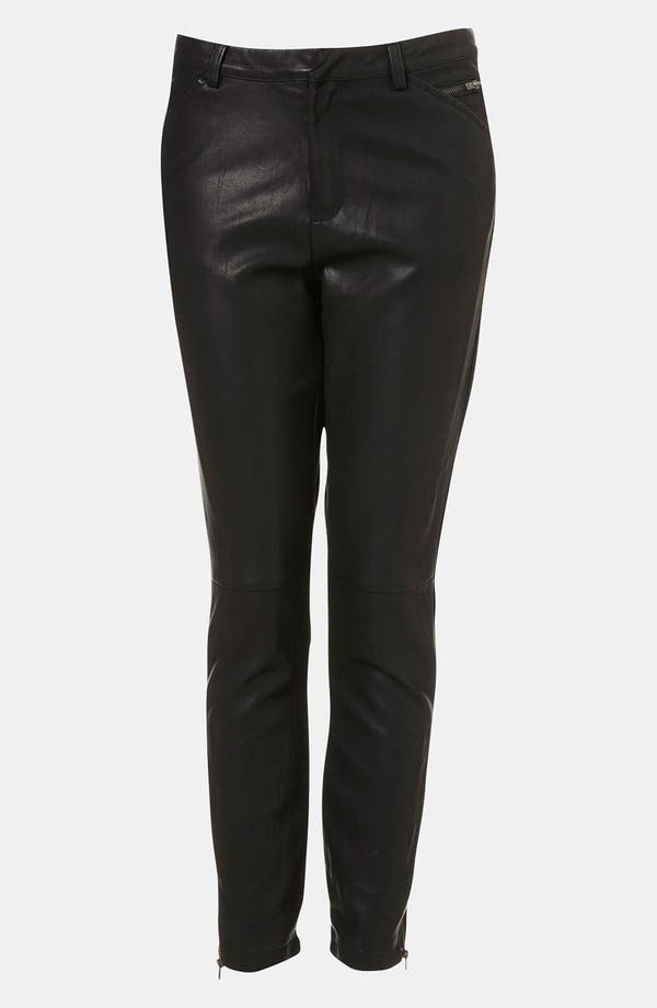 Alternate Image 1 Selected - Topshop 'Kat' Faux Leather Biker Pants