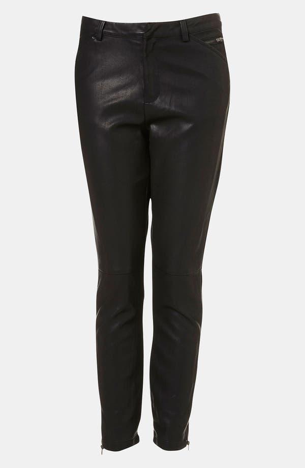Main Image - Topshop 'Kat' Faux Leather Biker Pants