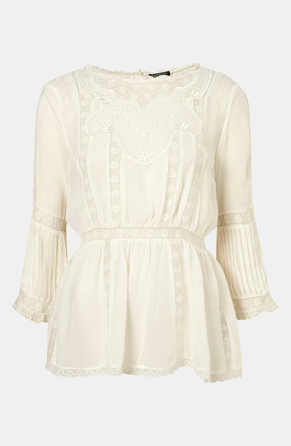 Main Image - Topshop 'Valencia' Vintage Lace Tunic