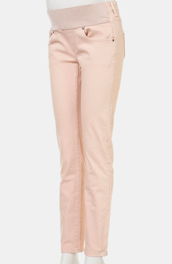 Alternate Image 2  - Topshop 'Baxter' Colored Skinny Maternity Jeans (Mink)