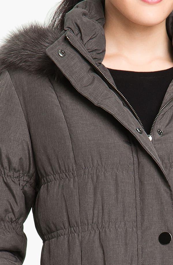 Alternate Image 3  - Jessica Wilde Down Coat with Genuine Fox Fur