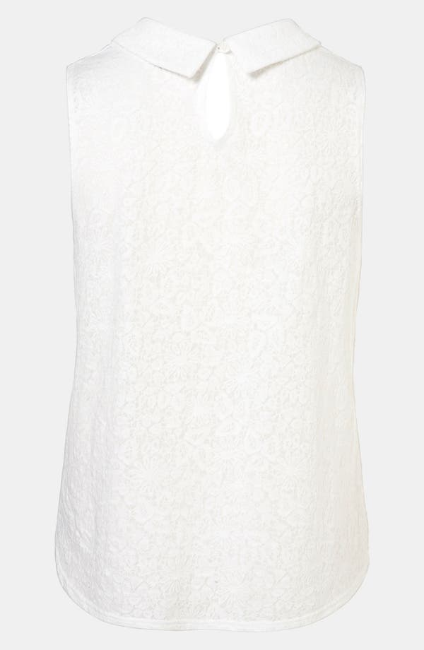 Alternate Image 2  - Topshop Collared Lace Pattern Tank
