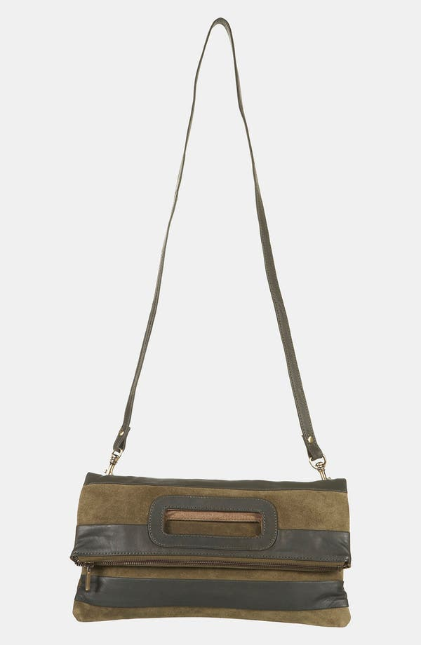 Alternate Image 2  - Topshop Stripe Suede & Leather Convertible Clutch