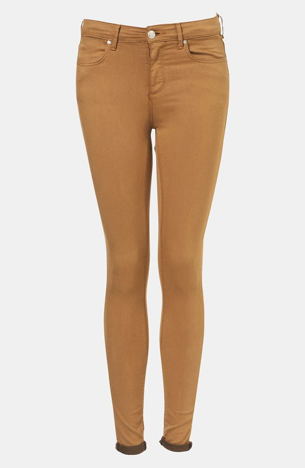 Main Image - Topshop Moto 'Leigh' Skinny Jeans (Tobacco)