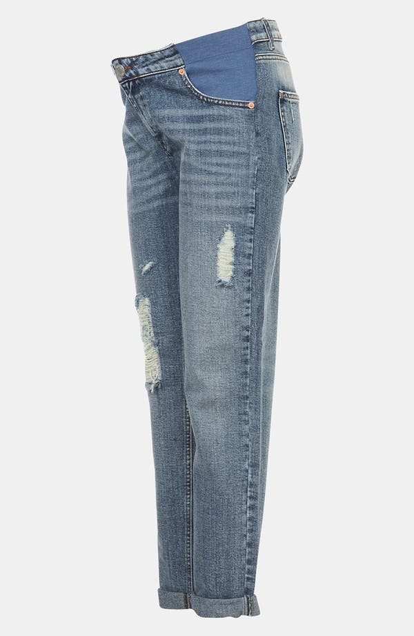 Alternate Image 4  - Topshop 'Evie' Distressed Slim Moto Maternity Jeans