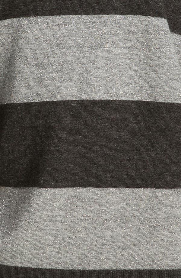 Alternate Image 3  - DKNYC Striped Metallic Sweater (Plus)