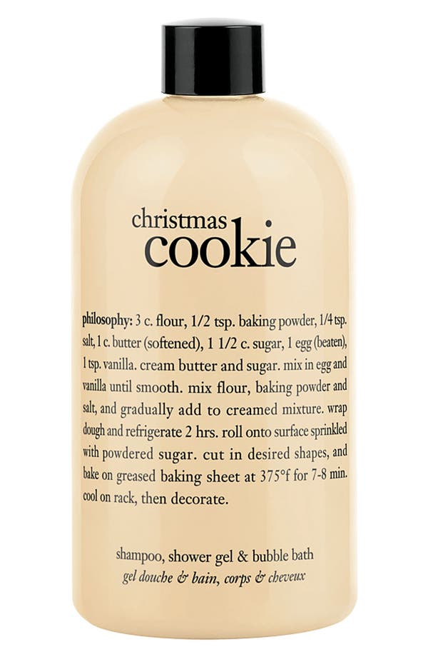 Alternate Image 1 Selected - philosophy 'christmas cookie' shampoo, shower gel & bubble bath