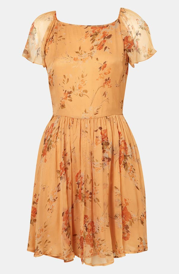 Alternate Image 1 Selected - Topshop 'Autumn Meadow' Print Dress