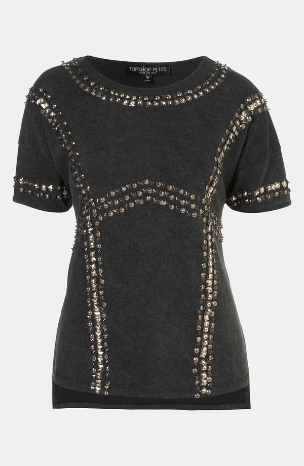 Main Image - Topshop Embellished Harness Tee (Petite)
