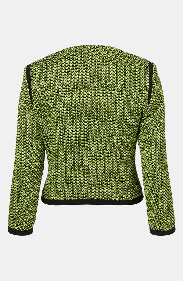 Alternate Image 2  - Topshop Neon Bouclé Jacket