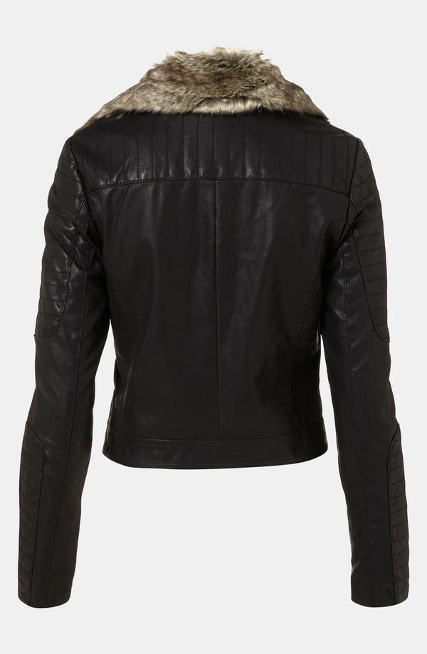 Alternate Image 2  - Topshop 'Maddox' Faux Leather Jacket