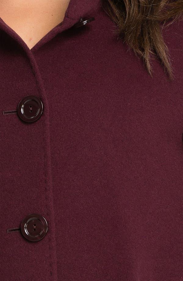 Alternate Image 3  - Cinzia Rocca Funnel Neck Coat (Plus)