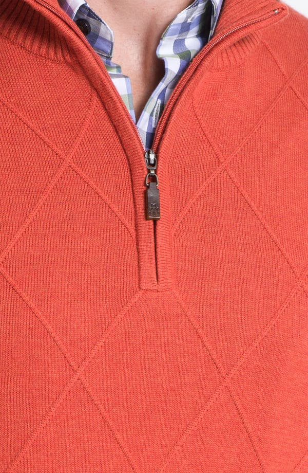 Alternate Image 3  - Robert Talbott Cotton & Cashmere Quarter Zip Sweater