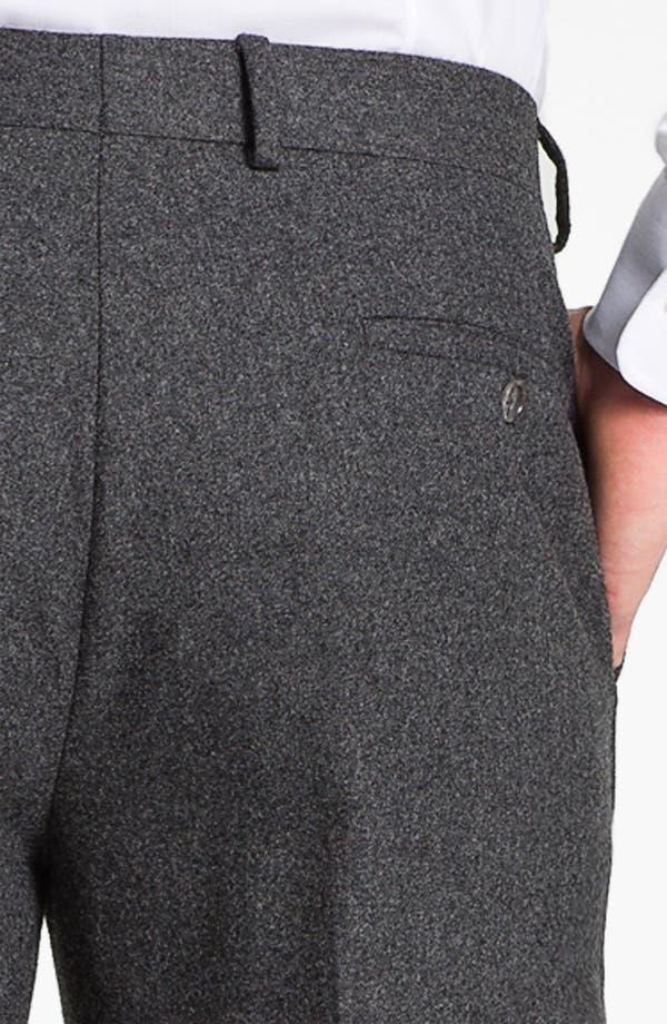 Alternate Image 3  - Robert Talbott Flat Front Wool Trousers