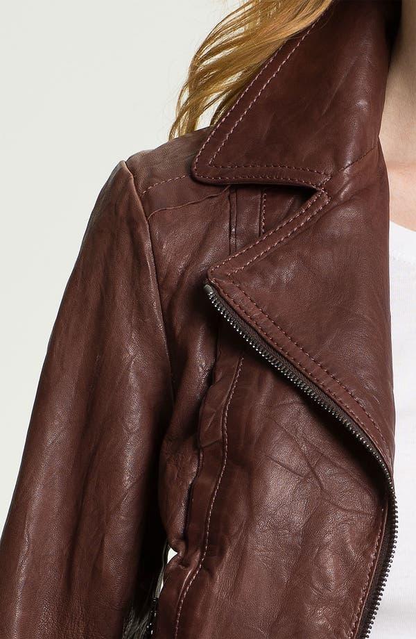 Alternate Image 3  - Bernardo Knit Cuff Leather Jacket