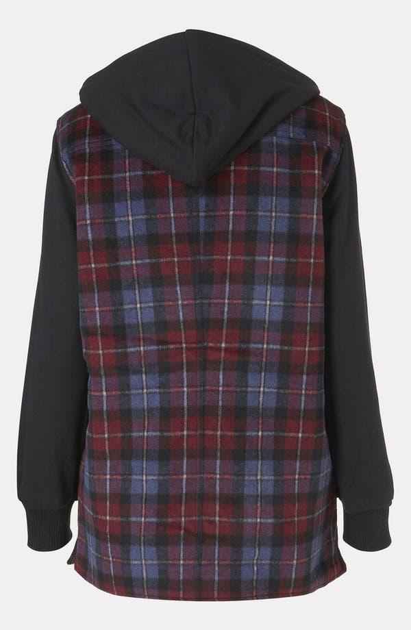 Alternate Image 2  - Topshop Plaid Hooded Jacket