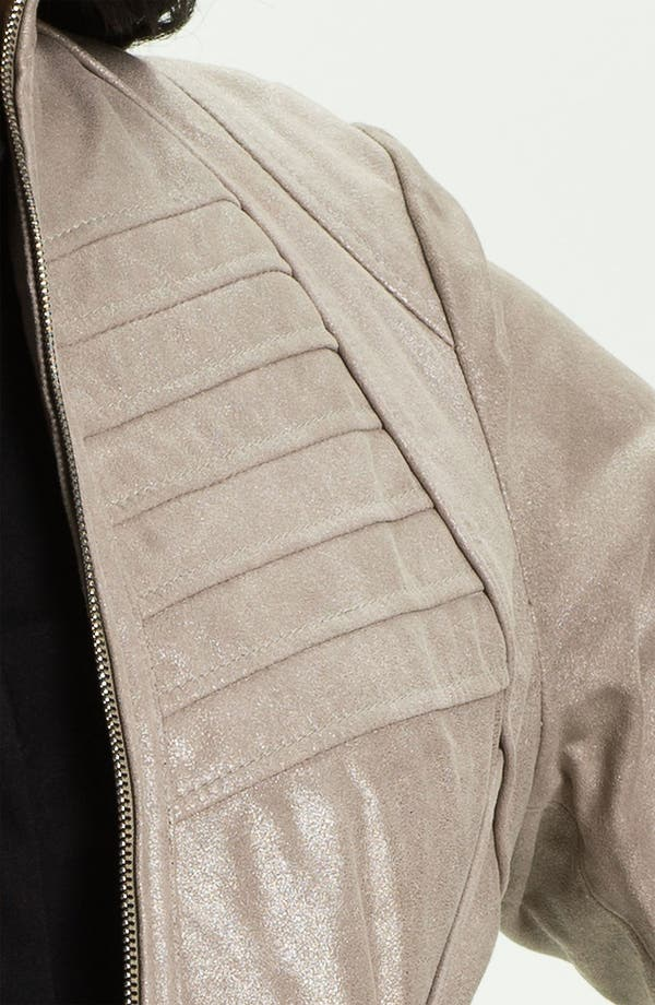 Alternate Image 3  - Bernardo Metallic Leather Jacket (Plus)