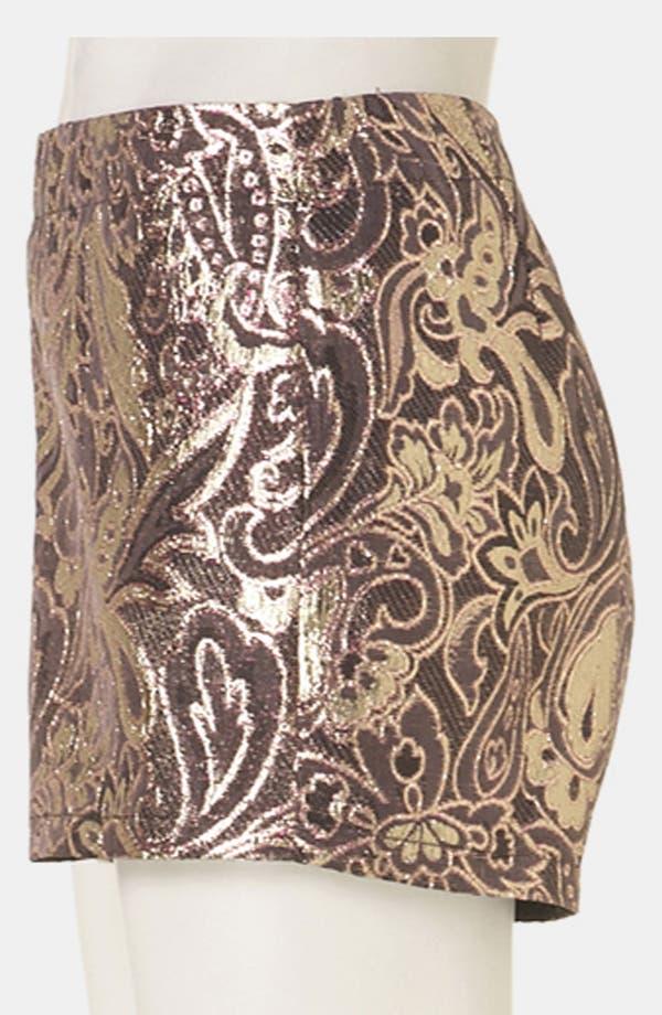 Alternate Image 4  - Topshop 'Dandy' Metallic Jacquard Shorts