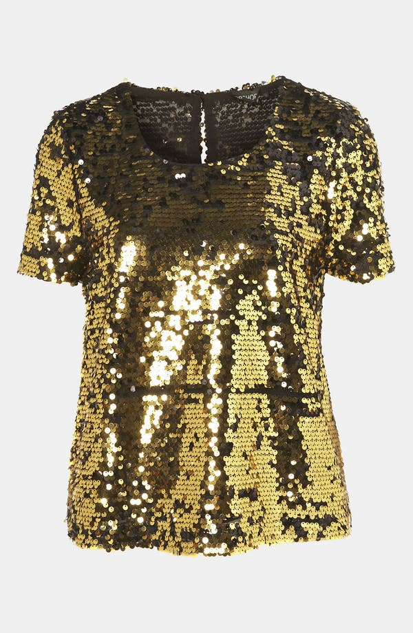 Alternate Image 1 Selected - Topshop Sequin Top