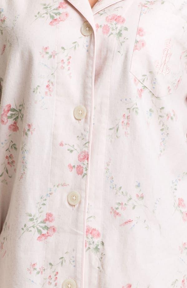 Alternate Image 3  - Lauren Ralph Lauren Sleepwear Pattern Brushed Twill Pajamas