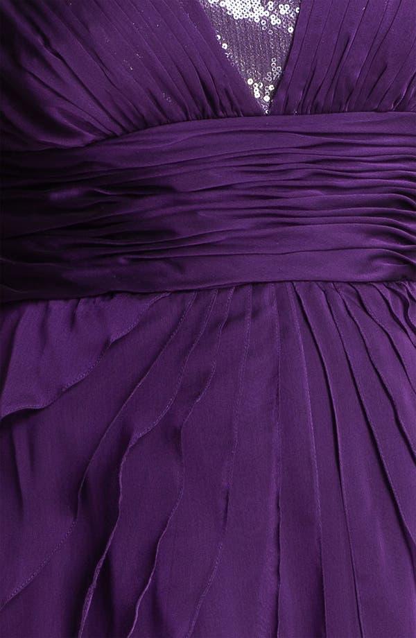 Alternate Image 3  - Adrianna Papell Chiffon Petal Gown (Plus)