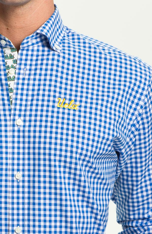 Alternate Image 3  - Thomas Dean 'UCLA' Gingham Sport Shirt