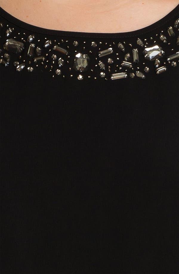 Alternate Image 3  - DKNYC Embellished Mixed Media Tee (Plus)