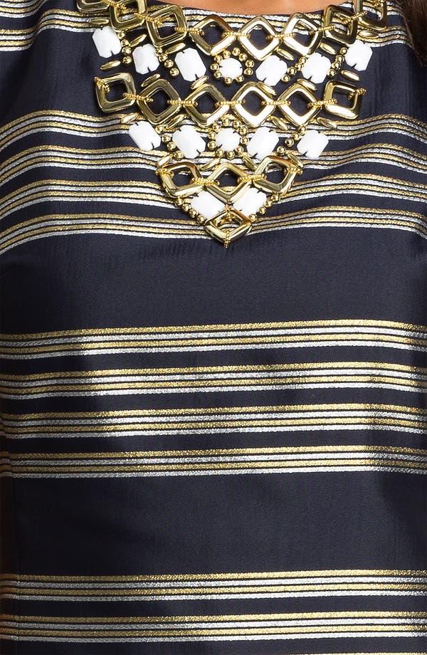 Alternate Image 3  - Lilly Pulitzer® Beaded Neck Metallic Stripe Sheath Dress