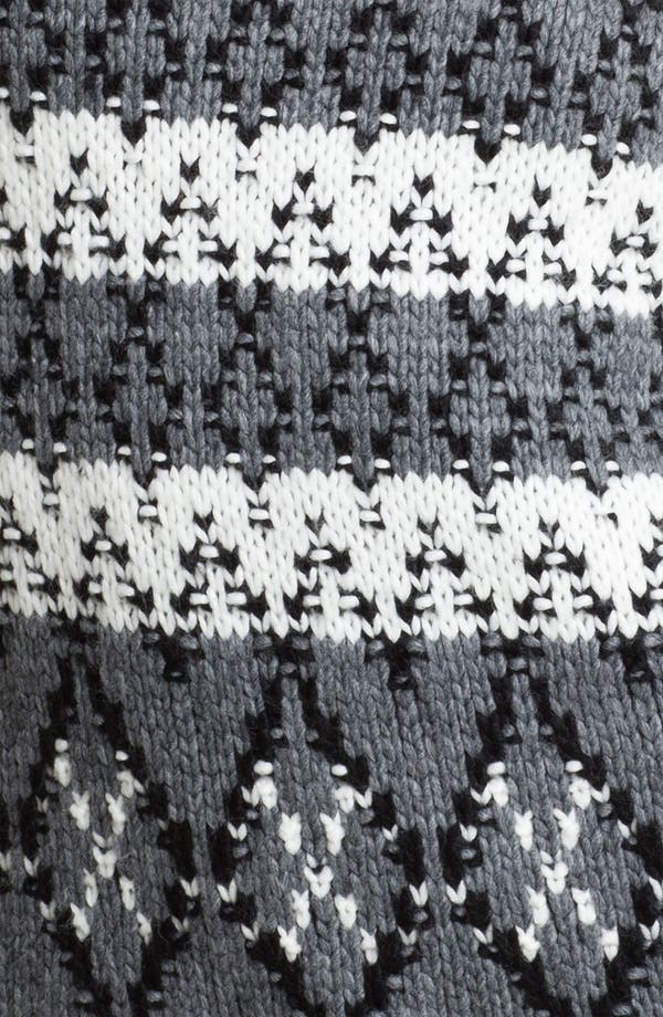 Alternate Image 3  - Trouvé Fair Isle Leather Shoulder Sweater