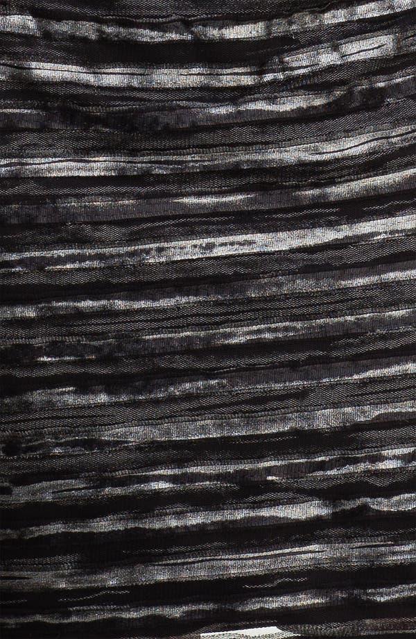 Alternate Image 3  - Donna Ricco Double V-Neck Textured Mesh Sheath Dress