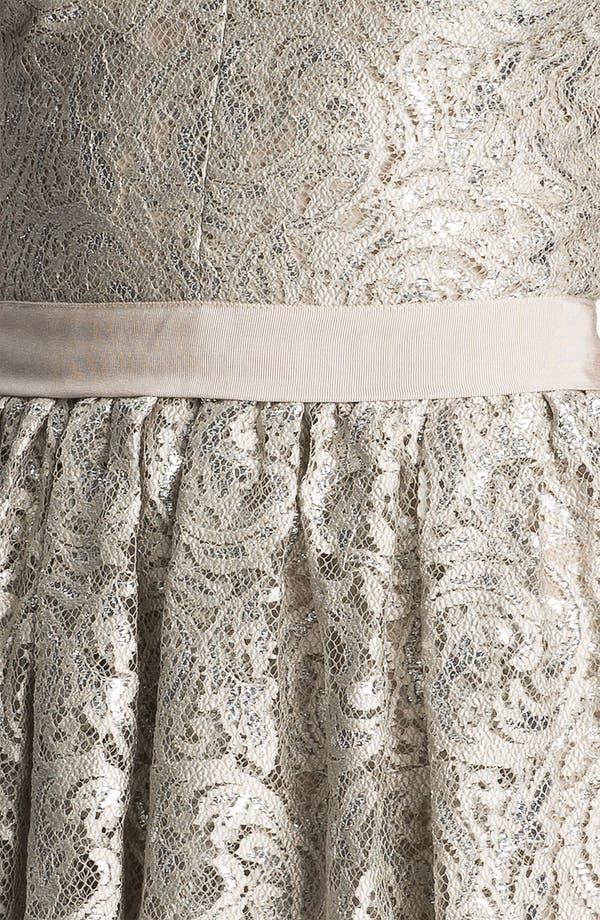 Alternate Image 3  - Robert Rodriguez Tiered Metallic Lace Minidress