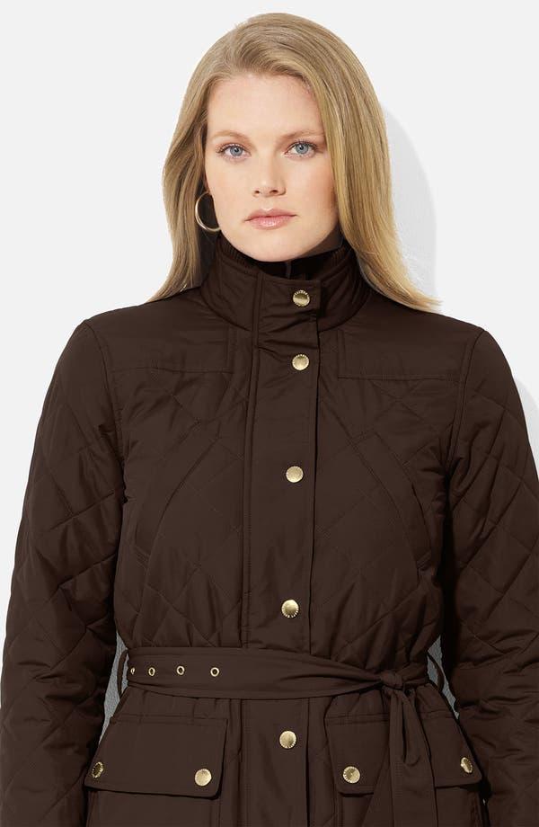 Alternate Image 3  - Lauren Ralph Lauren Belted Snap Front Jacket (Plus)