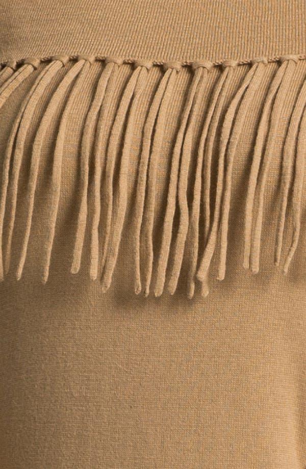 Alternate Image 3  - MICHAEL Michael Kors Fringed Cowl Sweater (Plus)