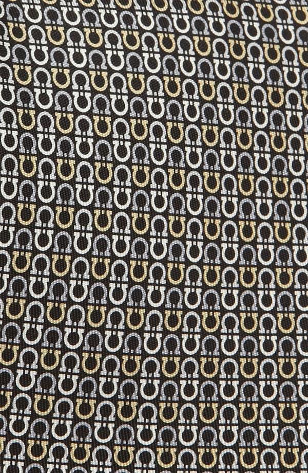 Alternate Image 2  - Salvatore Ferragamo Gancini Print Silk Tie
