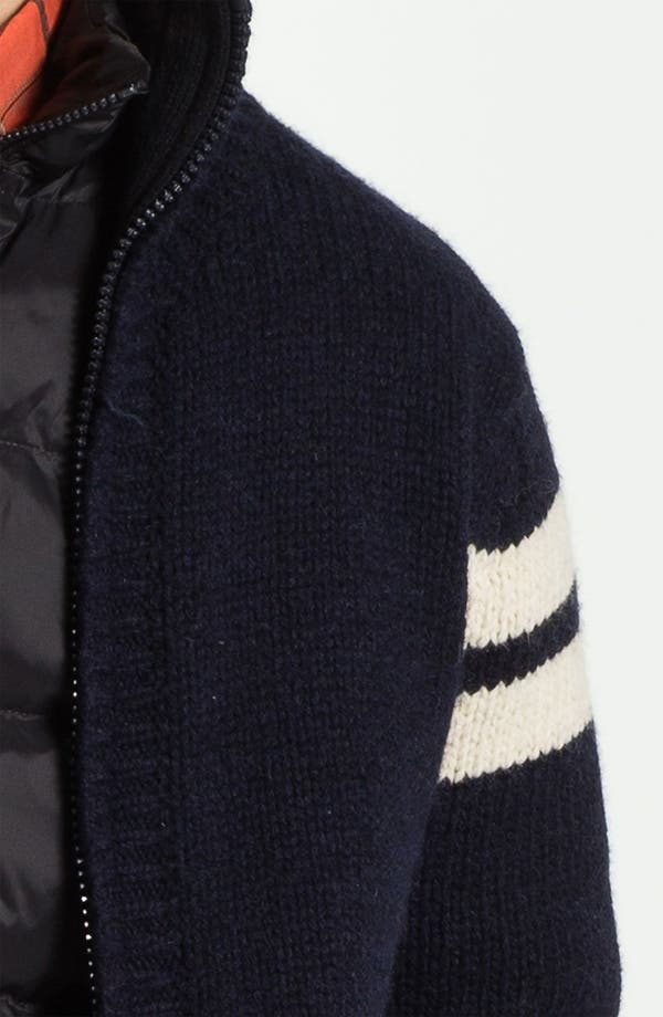 Alternate Image 3  - Scotch & Soda Wool Blend Cardigan with Optional Down Liner