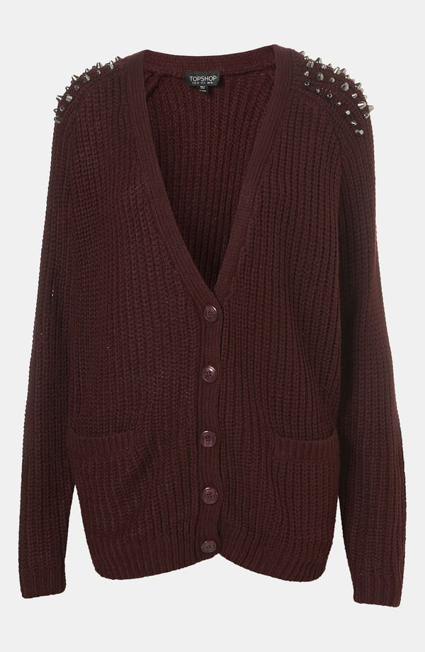 Main Image - Topshop Studded Slouchy Cardigan